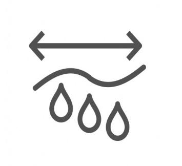 POWERPLAY吸水長度變化率